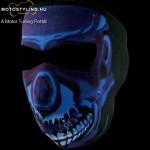 Blue Chrome Skull arcmaszk kép
