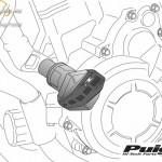 Bukógomba, Puig R12 Yamaha FZ8/FAZER 8 (2010-2013) FZ1/FAZER (2006-2016) kép