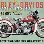 HARLEY DAVIDSON Twin  reklámtábla kép