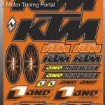Matrica szett, KTM kép