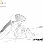Standard plexi,Puig Ducati MONSTER 696/796/1100 (2009-2014) kép
