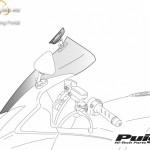 Túra plexi plusz légterelõvel,Puig Yamaha XJ6 DIVERSION (2009-2015) kép