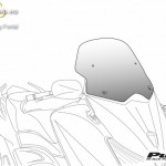 V-Tech Sport plexi Kymco XCITING 500 (2007-2013) kép
