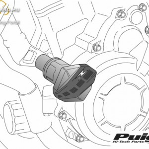 Bukógomba, Puig R12 Ducati MONSTER 696/796/1100/1100S/1100 EVO (2008-2014) kép