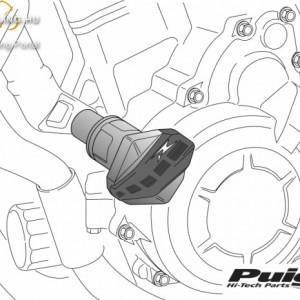 Bukógomba, Puig R12 Ducati X DIAVEL/S (2016-) kép
